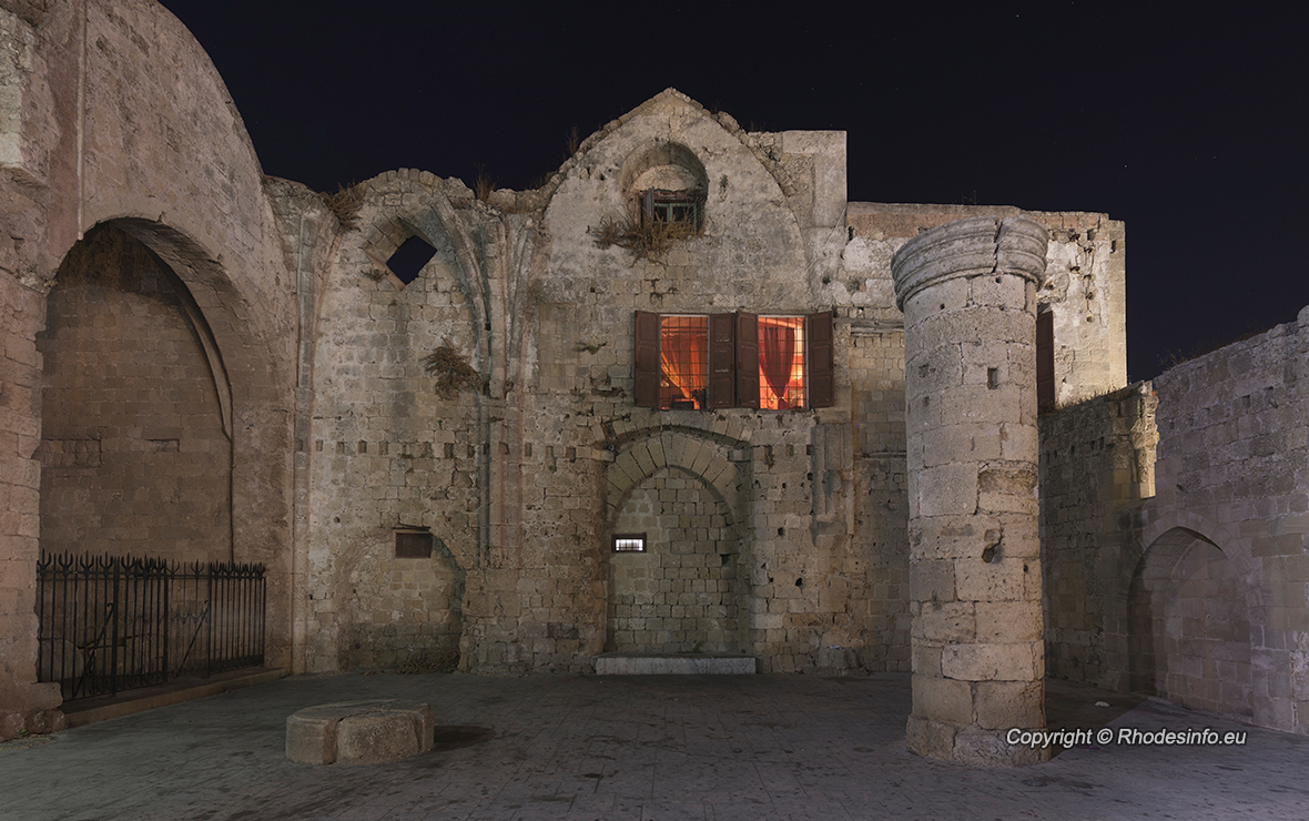 Old Basilica at Ippocratous square of Rhodes island in Greece