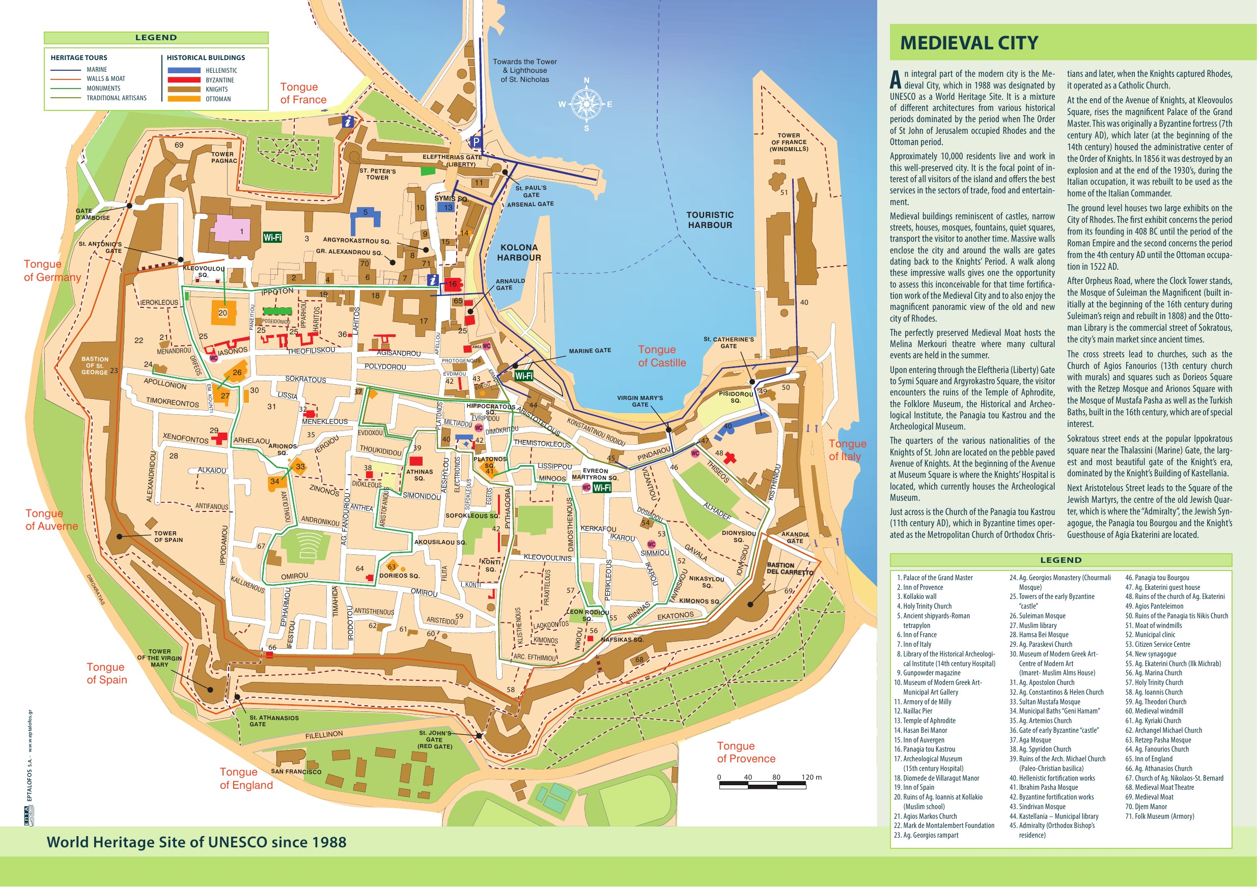 Rhodes-old-town-map